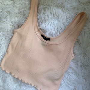 🎃 peach colored crop top from forever 21